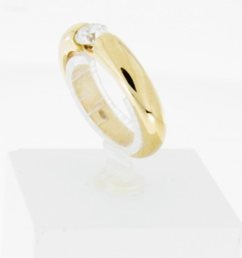 Ring 18 k Gelbgold mit Brillant ca. 0,45 ct.