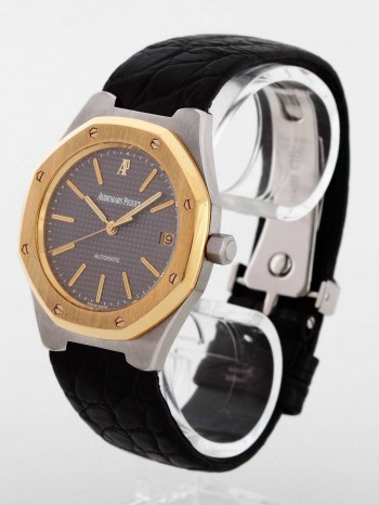 Audemars Piguet Royal Oak Edelstahl/Gold an Lederband Ref. 14800