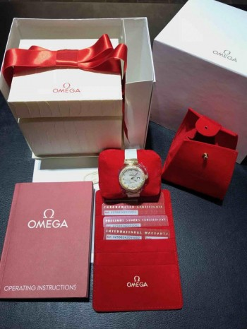 Omega De Ville Ladymatic 18 K Gold Brillanten Co-Axial 34mm Ref. 42568342055002