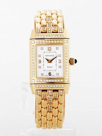 Jaeger-LeCoultre Reverso 18 K Gelbgold Diamant Ladies Ref. 267.1.86