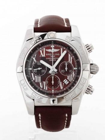 Breitling Chronomat B01 44mm Edelstahl an Lederband braun Ref. AB011012/Q566