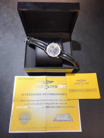 Breitling Navitimer Montbrilliant Datora Chronograph Edelstahl an Leder Ref. A21330
