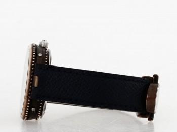 Gerald Genta Gefica Safari mit dunkelblauem Lederband
