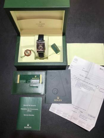 Rolex Cellini Prince Weißgold an Krokolederband Ref. 5443/9