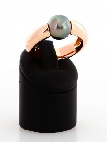 Ring 18 K Rosegold mit Tahitiperle