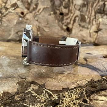 Nomos Glashütte Zürich with brown leather strap Ref. 823