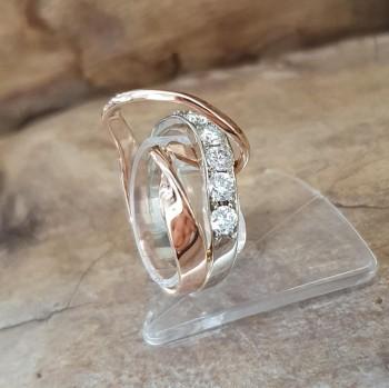 Ring Bicolor mit Diamanten
