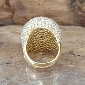 Ball ring 18 ct Yellow gold with 10,5 ct brillants