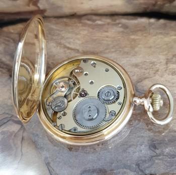 System Glashütte Taschenuhr 18k Gelbgold
