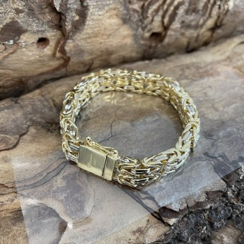 King chain and King bracelet 14k Yellow and Whitegold