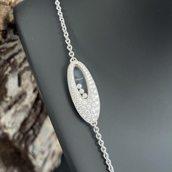 Chopard collier 18ct white-gold with brillants