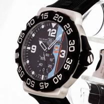 TAG Heuer Formular 1 Grande Date Gulf Edelstahl an Kautschuk Ref. WAH1013