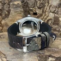 Rolex Oysterdate Precision Edelstahl an Lederband Grün Ref. 6694