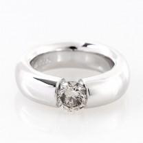 Ring 950 Platin mit 1 Diamant 1.0 Kt.