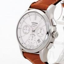 Wempe Zeitmeister Glashütte Chronometer brown crocodile leather Ref. 620367