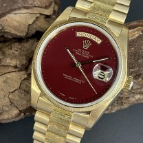 Rolex Day-Date 36 Borke Holzblatt FULL SET Ref. 18078