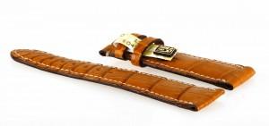Chronoswiss Lederarmband Armband Krokoleder hellbraun 20x18mm