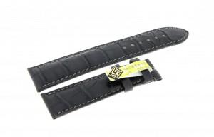 Chronoswiss Lederarmband Armband Krokoleder dunkel grau 20x18mm