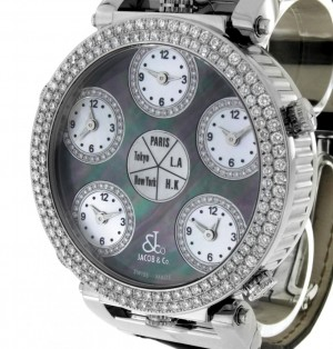 Jacob & Co. Five Time Zones World Time Monster Diamantbesatz
