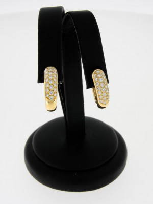 Cartier Ohrclips 18 k Gelbgold mit Brillanten 1,30 ct.