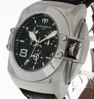 Technomarine Blackwatch Quarz Stahl an Lederband