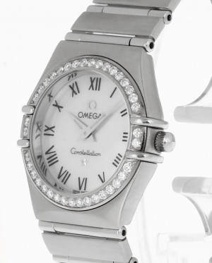 Omega Constellation Lady Quarz Stahl+Diamantlünette 14766100