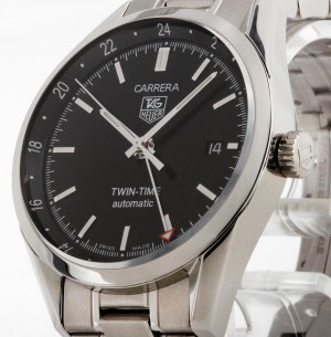 TAG Heuer Carrera Calibre 7 Twin Time Stahl Ref.WV2115-0