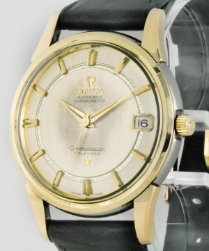 Omega Constellation Vintage Stahl/Gold an Lederband Ref. 14395