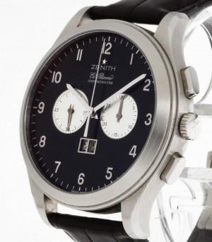 Zenith Grande Class El Primero Chronometre Chronograph Automatik Stahl an Lederband Ref.03.0520.4010