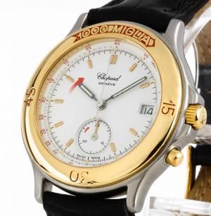 Chopard Mille Miglia Chrono Quarz Stahl/Gold an Lederband Ref. 8142