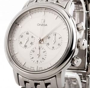 Omega De Ville Prestige Chronograph Handaufzug Stahl an Stahlband Ref.4540