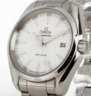 Omega Seamaster Aqua Terra Quarz Stahl an Stahlband Ref.23110396002001