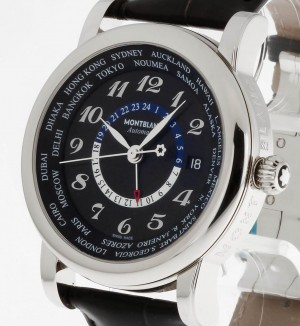 Montblanc Star World-Time GMT Automatik Stahl Ref.106464