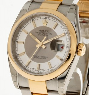 Rolex Oyster Perpetual Datejust 36 mm Stahl/Gold Ref.116203