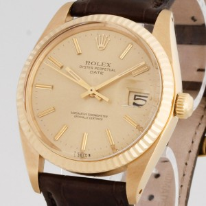 Rolex Oyster Perpetual Date Vintage18kt Gelbgold Ref. 1503