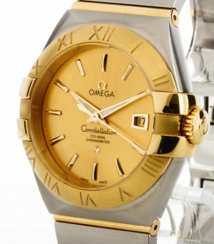 Omega Constellation Co-Axial Automatik Stahl /Gelbgold Ref. 12320312008001