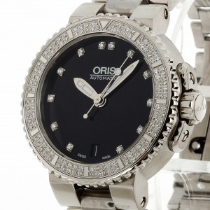 Oris Aquis Date Diamonds Automatik Stahl Ref.0173376524994
