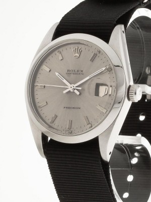 Rolex Oysterdate Precision Handaufzug Stahl an Natoband Ref.6694