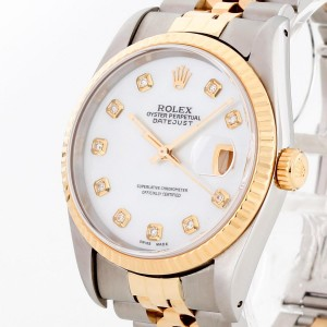 Rolex Oyster Perpetual Datejust 36 mm Stahl/Gold an Jubiléband Ref.16233