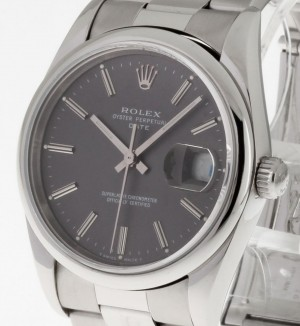 Rolex Oyster Perpetual Date Automatik Stahl an Oysterband Ref. 15210/15200