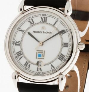Maurice Lacroix Edelstahl an Lederband Ref. 69.810.3313