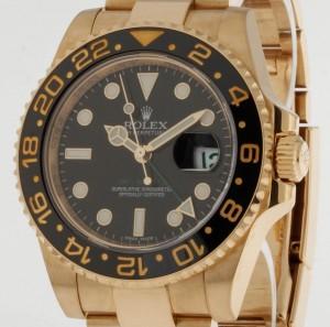 Rolex GMT-Master II Gelbgold und Keramik Ref. 116718LN