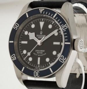 Tudor Heritage Black Bay Automatik Stahl an Lederband Ref.79220B LC100