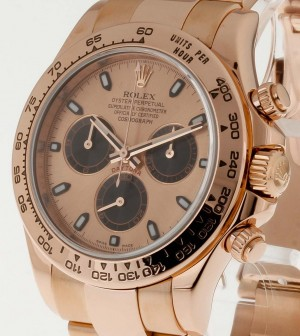 Rolex Oyster Perpetual Cosmograph Daytona Chronograph 18kt Roségold an Oysterband Ref.116505
