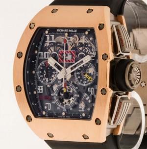 Richard Mille Filipe Massa Flyback Chronograph Automatik Roségold/Titan an Kautschukband Ref. RM011