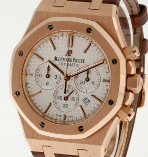 Audemars Piguet Royal Oak Chronograph 18kt Roségold an Lederband Ref.26320OR.OO.D088CR.01