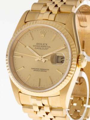 Rolex Datejust 36mm 18kt Gelbgold LC 100 Wempe Ref.16238