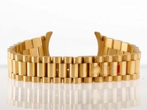 Rolex Präsidentband für Medium Modelle 18kt Gelbgold