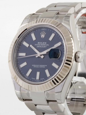 Rolex Oyster Perpetual Datejust blau Index Ref. 116334