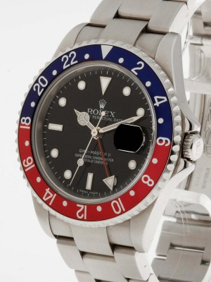 Rolex GMT-Master II Caliber 3186 Ref. 16710BLRO Stick Dial